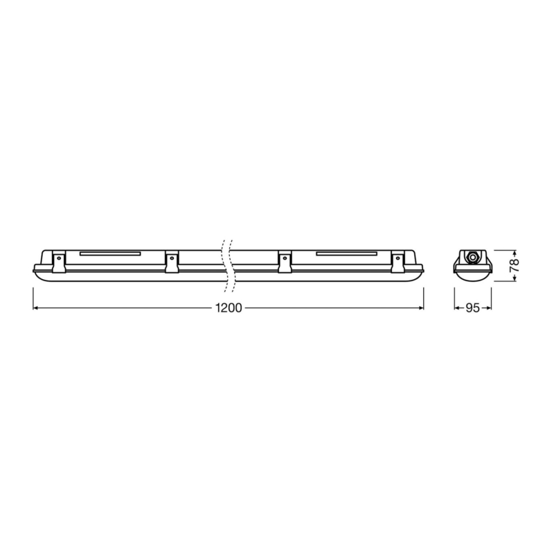 Ledvance LED Batten Dimensions 1200mm