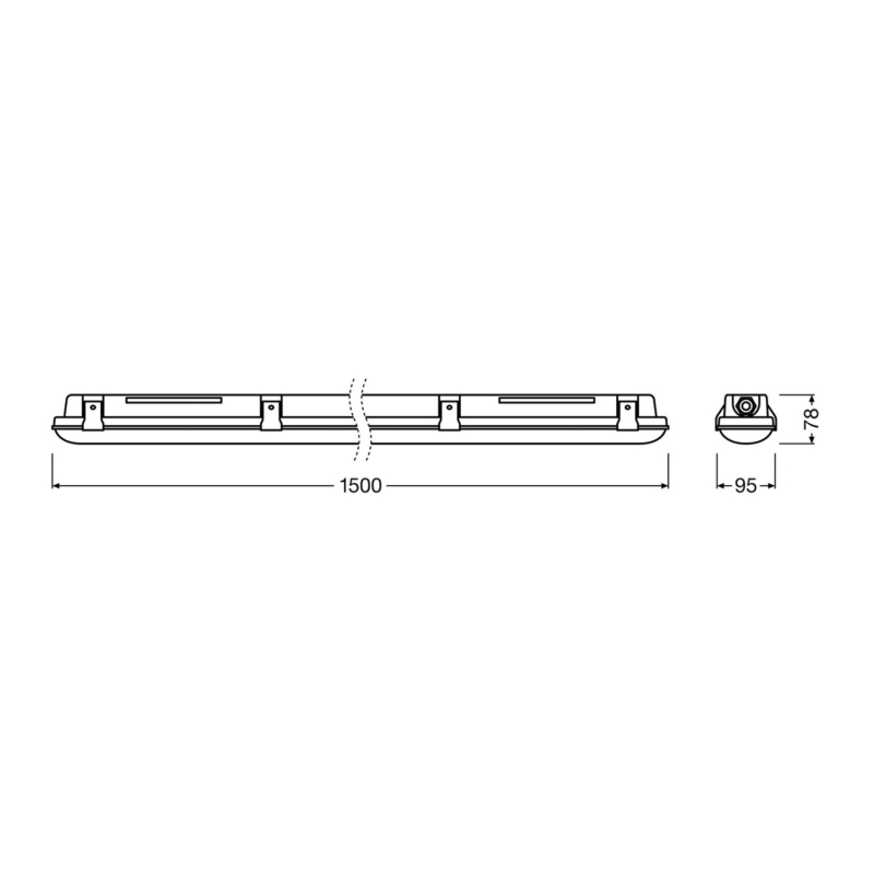 Ledvance LED Batten Dimensions 1500mm