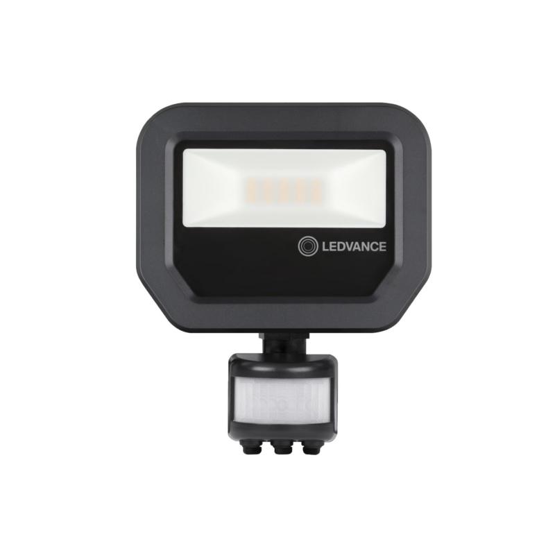 Ledvance 3rd Generation LED Floodlight 10W Black 3000K 4058075460836-Front
