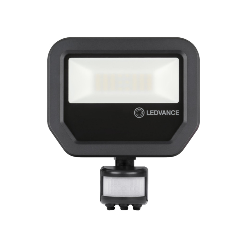 Ledvance 3rd Generation LED Floodlight 20W Black 3000K 4058075460911-Front