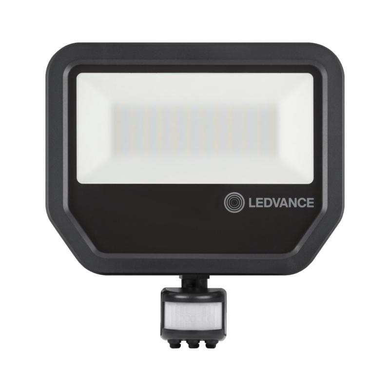 Ledvance 3rd Generation LED Floodlight 50W Black 3000K 4058075460997-Front