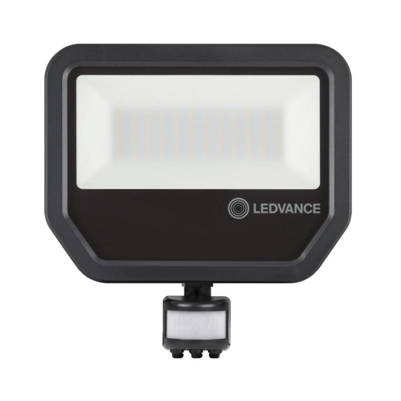 Ledvance 3rd Generation LED Floodlight 50W Black 4000K 4058075461031-Front