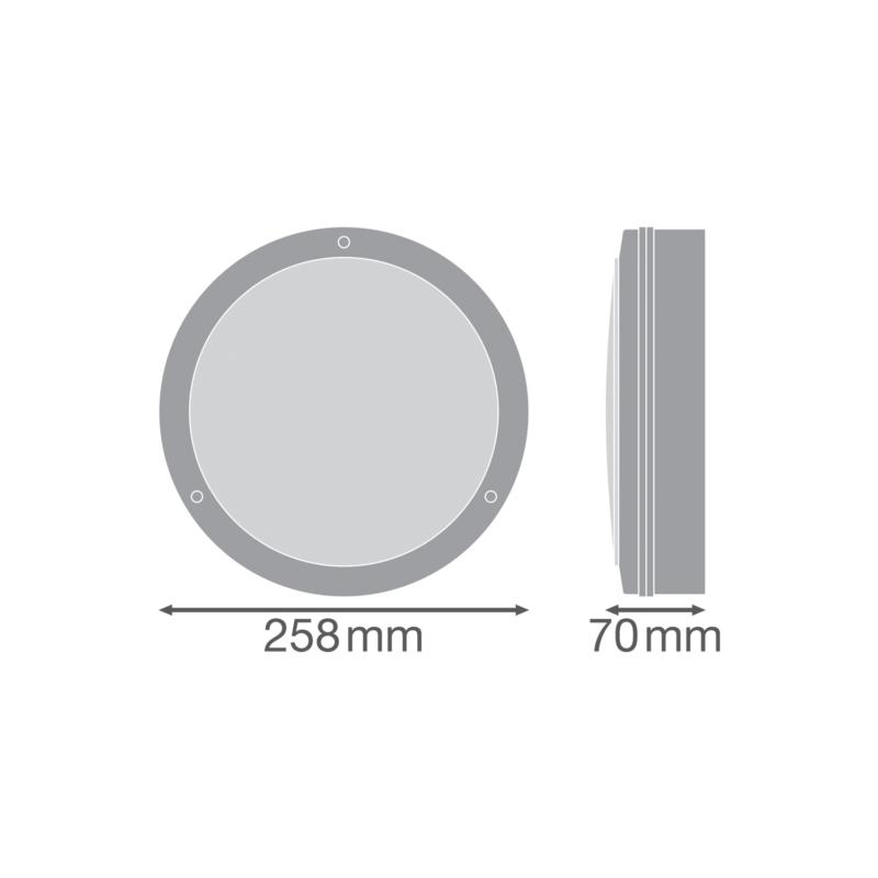 Ledvance LED Surface Bulkhead 10W Black-4058075374980-Dimensions