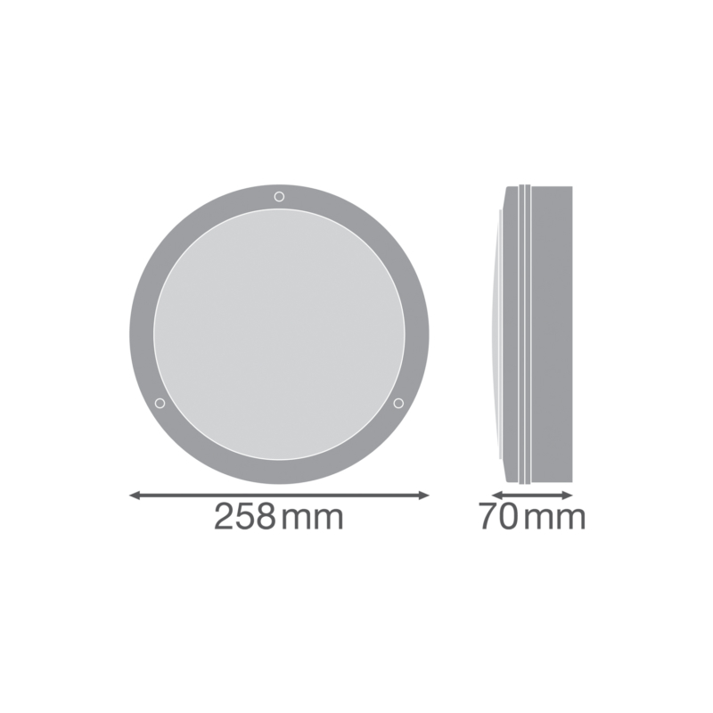 Ledvance LED Surface Bulkhead 10W White-4058075374867-Dimensions