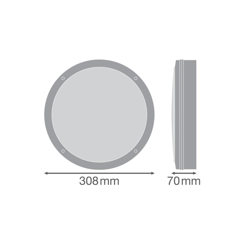 Ledvance LED Surface Bulkhead 15W White-4058075375161-Dimensions