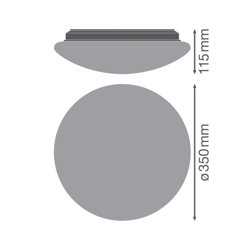 Ledvance LED Surface Circular Bulkhead 18W White-4058075314955-Dimensions