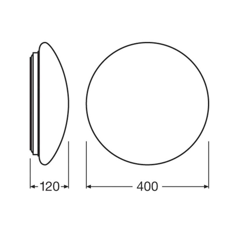 Ledvance LED Surface Circular Bulkhead 24W White-4058075314993-Dimensions