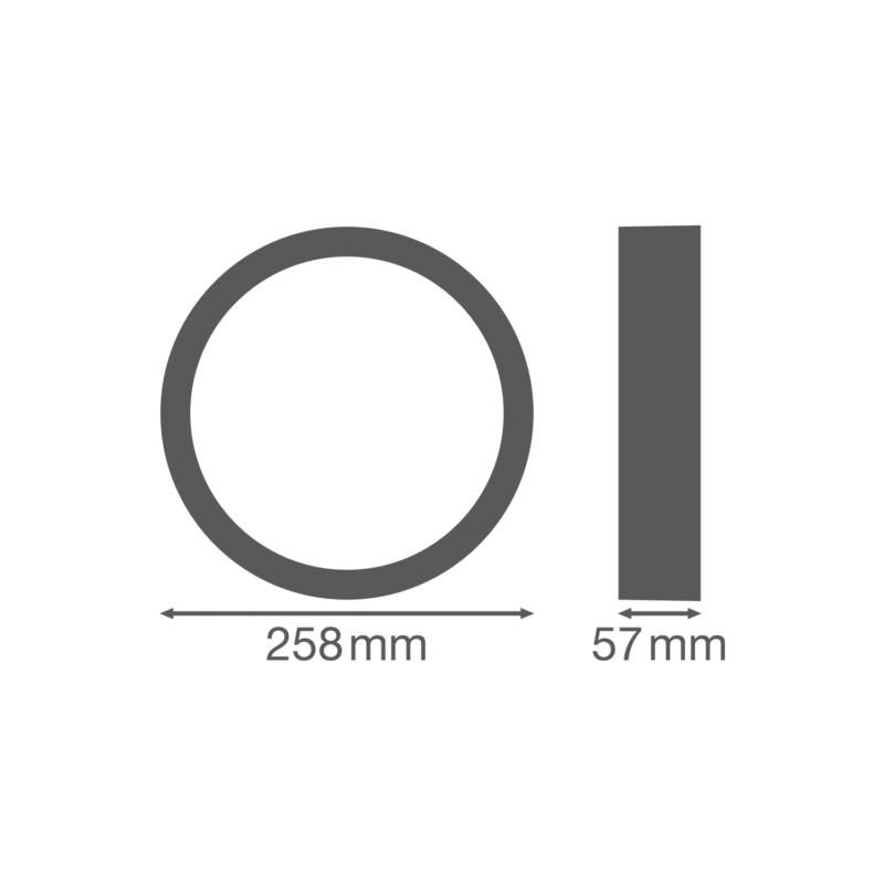 Ledvance Surface Bulkhead Ring 250mm Black-4058075399358-Dimensions
