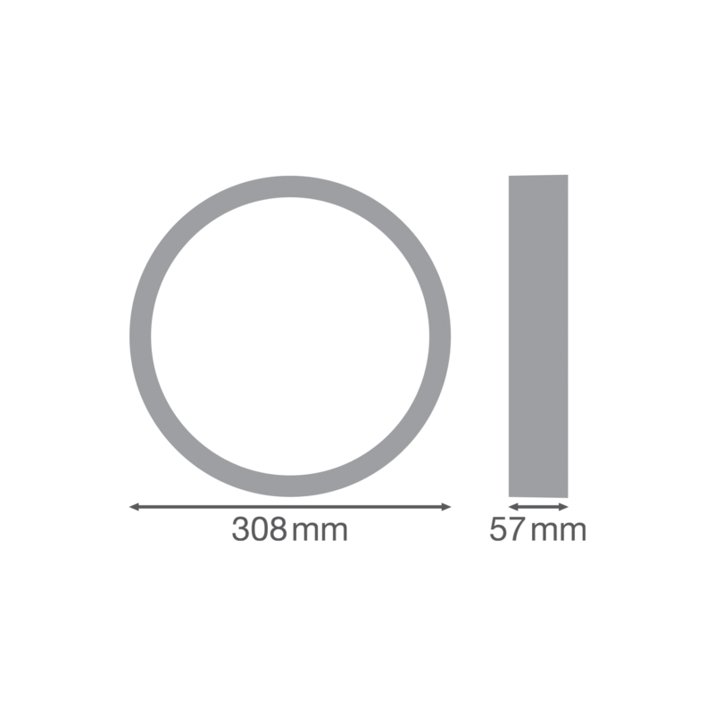 Ledvance Surface Bulkhead Ring 300mm White-4058075399372-Dimensions