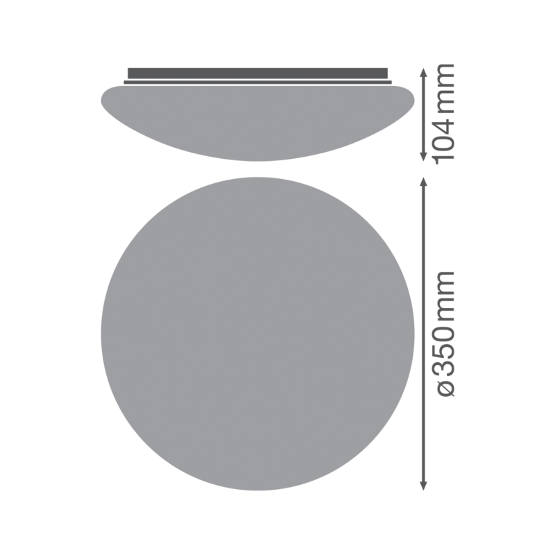 Ledvance Surface Circular Round White Cover-4058075156807-Dimensions
