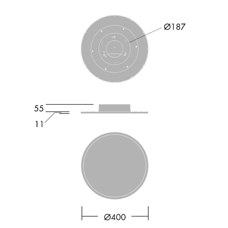 Thorn Omega Circular 33W-Dimensions