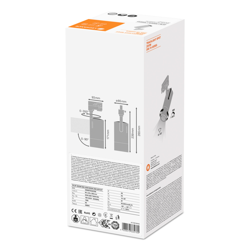 Ledvance Zoom Tracklight 25W 3000K-4058075335769-BoxBack