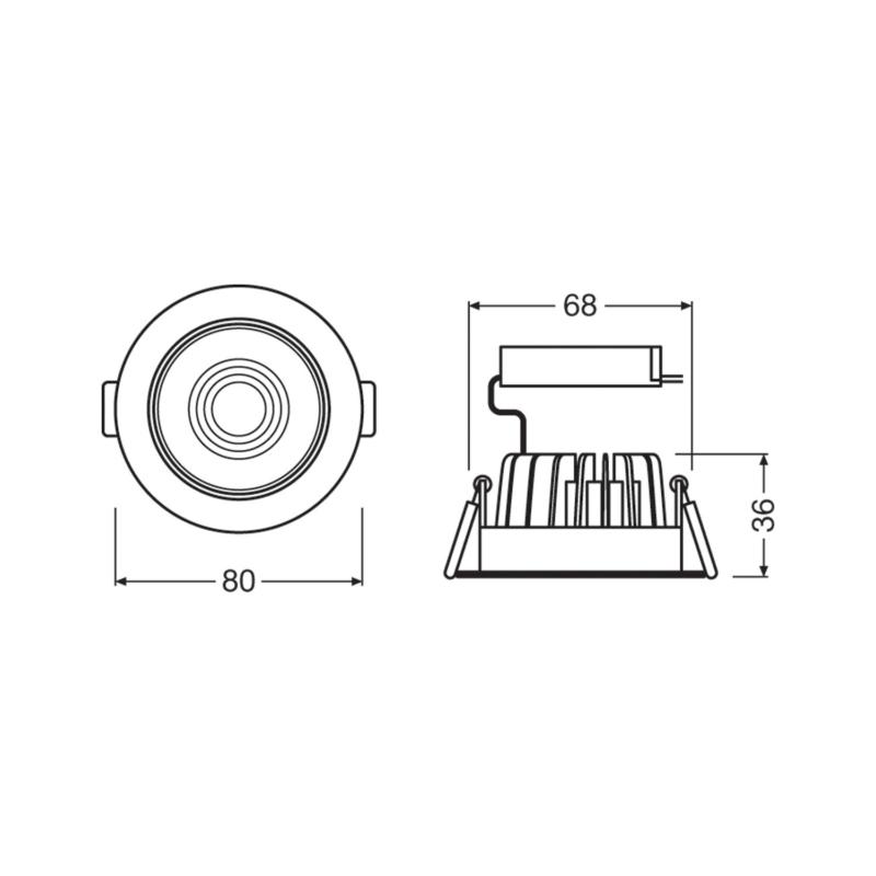 Ledvance LED Spot Adjust 6.5 W-Dimensions