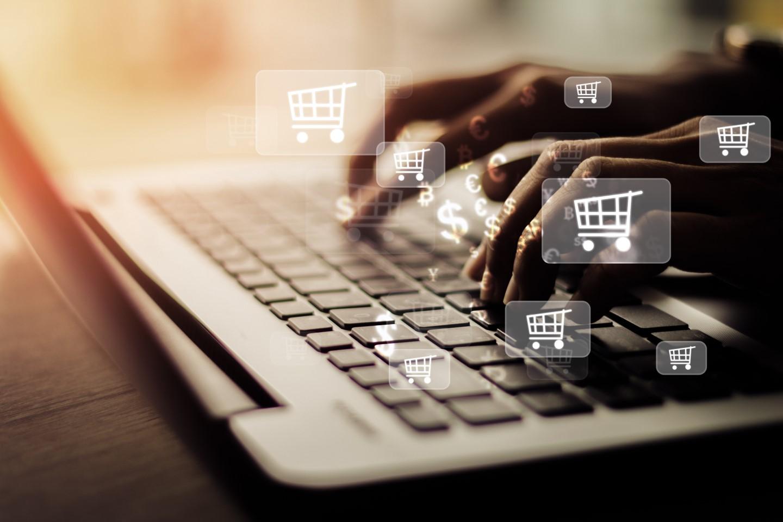 digital shopping cart logo