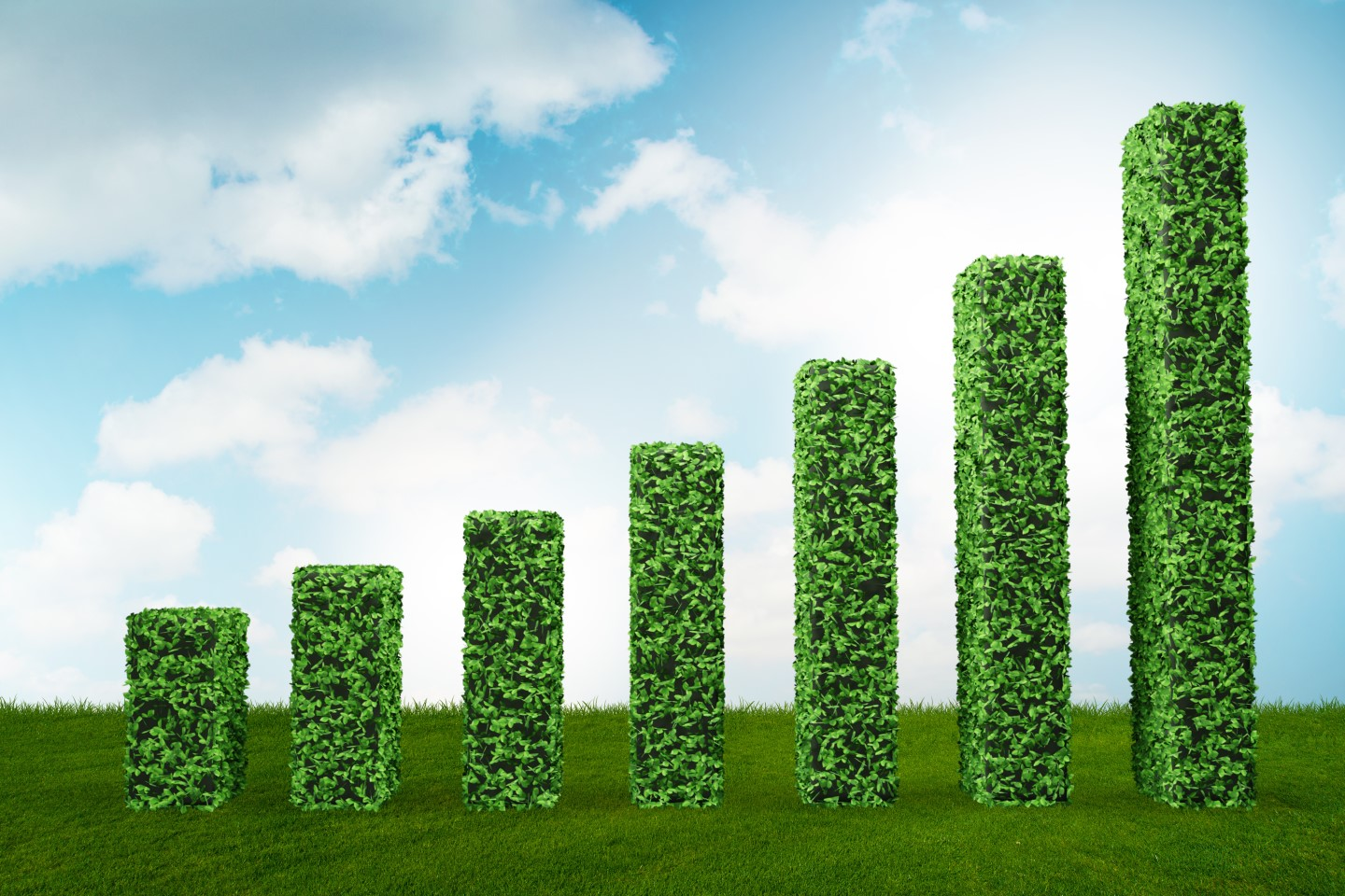 Stock image green ecological growth concept