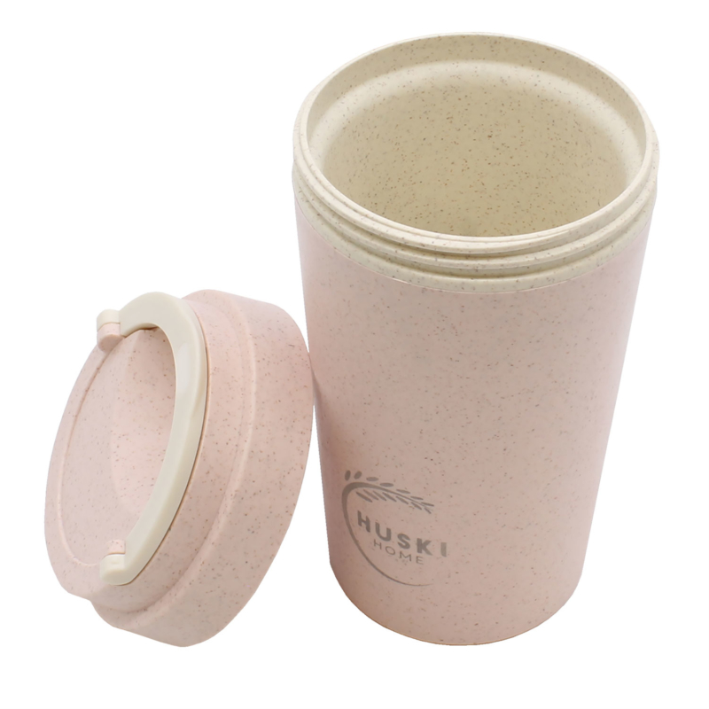 Huski-Home-Sustainable-Travel-Cup-Rose-400ml-Side