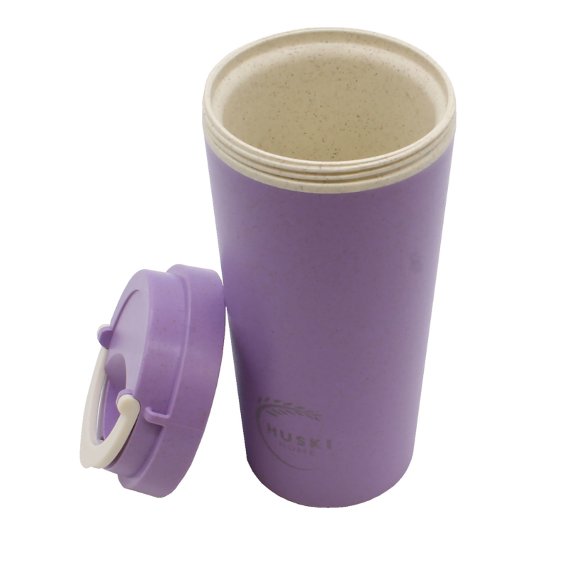 Huski-Home-Sustainable-Travel-Cup-Violet-500ml-Side