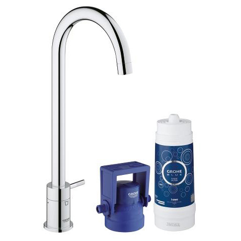 Grohe Blue Mono Pure Swivel 150 Chrome Kitchen Mixer Tap