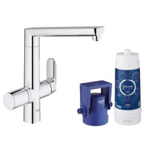 Grohe Blue K7 Pure Single Lever Swivel 140 Chrome Kitchen Mixer tap
