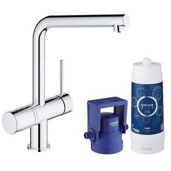 Grohe Blue Minta Pure Single Lever Swivel 150 Chrome Kitchen Mixer Tap