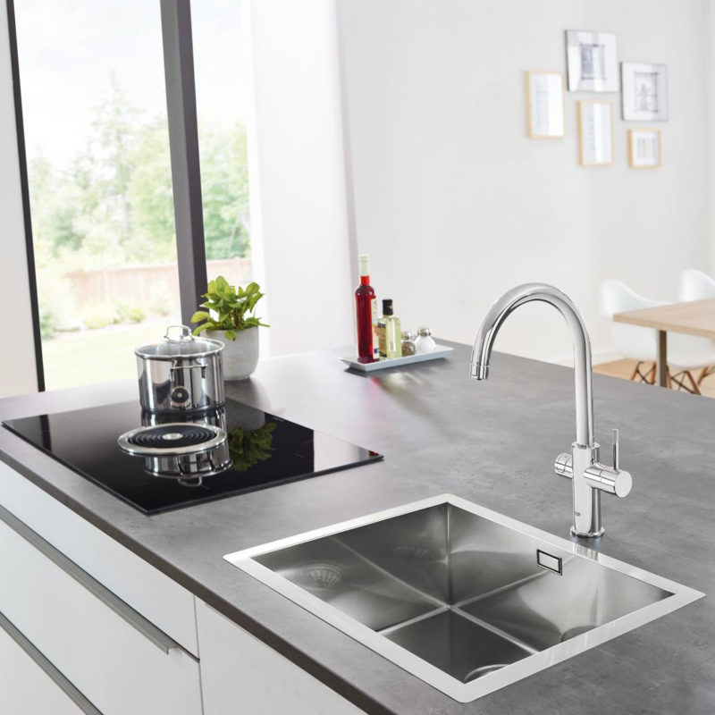 Grohe Blue Home C Spout Swivel 150 Kitchen Mixer Tap.lifestyle1