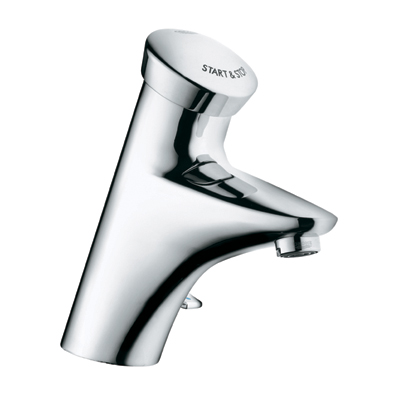 Grohe Eurodisc SE Self Closing Battery Powered Push Button Basin Mixer