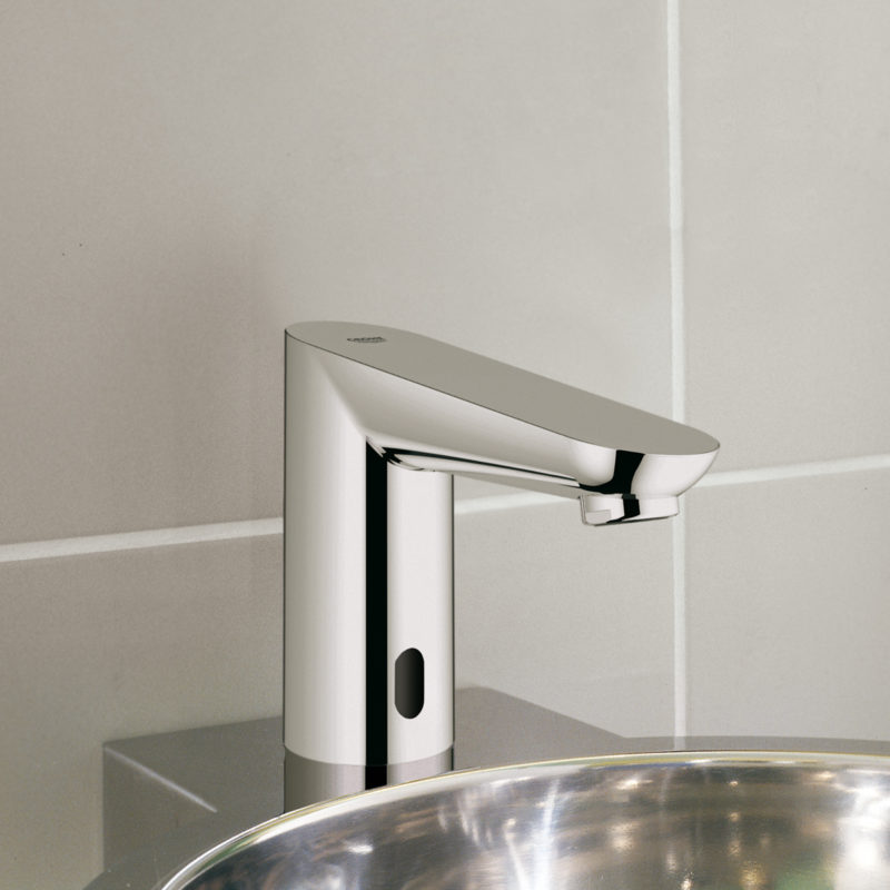 Grohe Euroeco Cosmopolitan E Infrared Electronic Mains Powered Basin Tap Lifestyle
