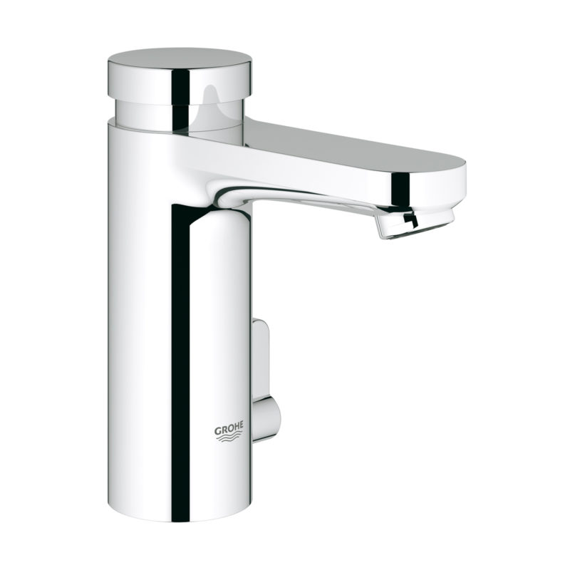 Grohe Eurosmart Cosmopolitan T Self Closing Basin Mixer with Mixing Device and Adjustable Temperature Limiter Flow