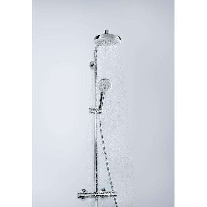 hansgrohe Crometta 1Jet EcoSmart Showerpipe in Situ