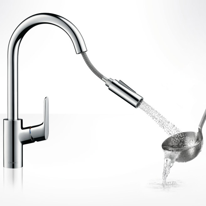 Frisch Hansgrohe Focus with Pull-out Spray Single Lever Swivel Spout 240  YU02