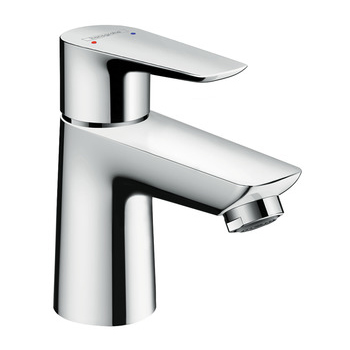 hansgrohe Talis E 80 Single Lever Basin Mixer with Push-Open Waste Set