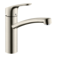 Hansgrohe Focus Single Lever Swivel 160 Stainless Steel Kitchen Mixer