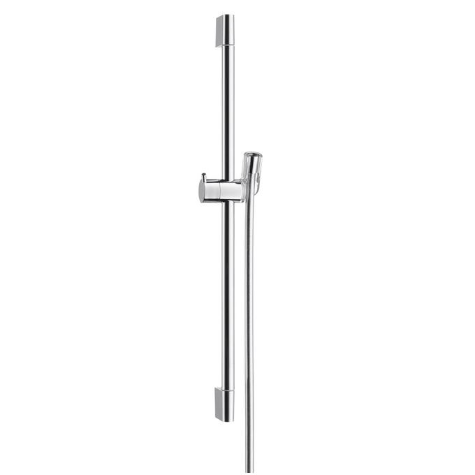 hansgrohe unica c shower bar with isiflex shower hose. Black Bedroom Furniture Sets. Home Design Ideas