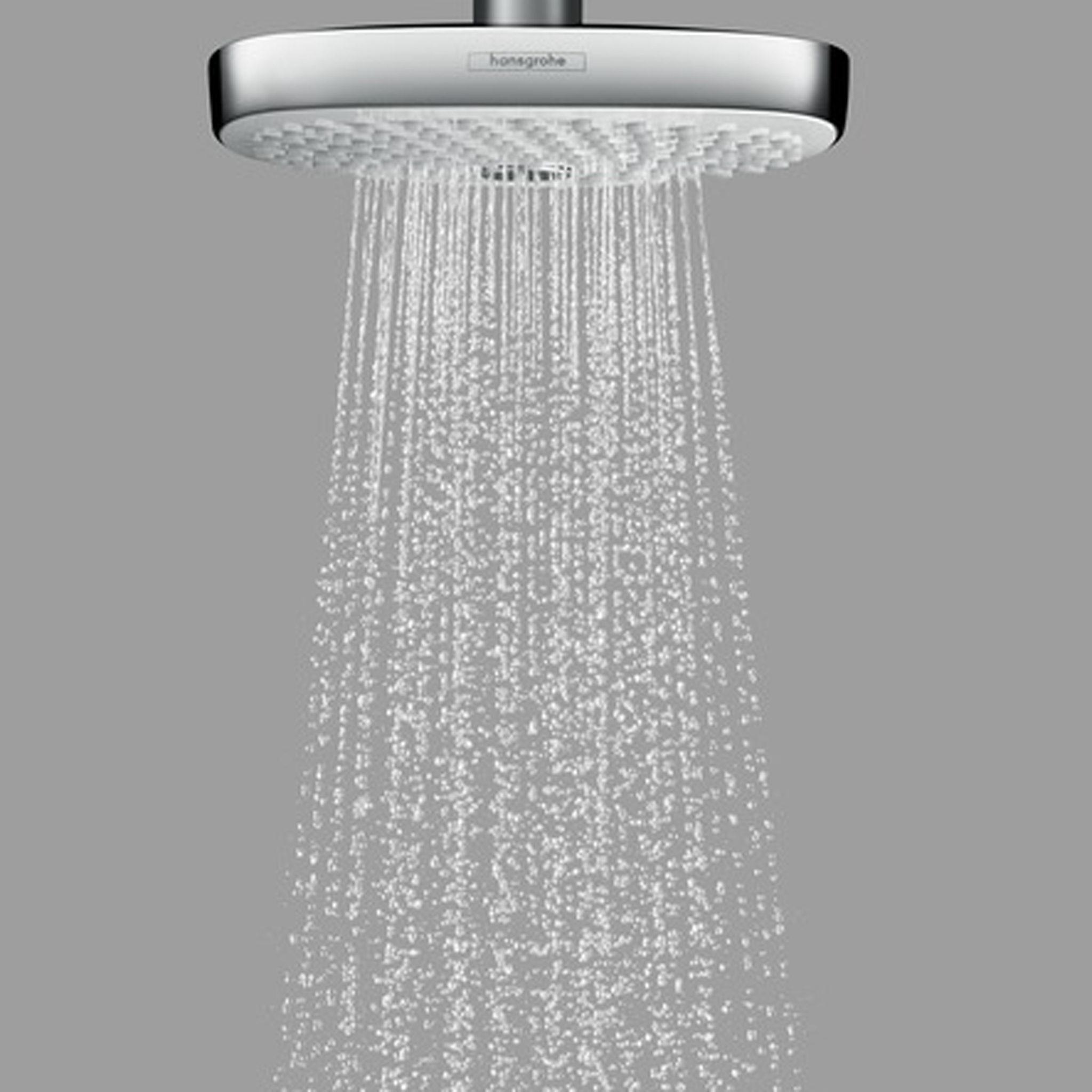 hansgrohe croma select e 180 2jet chrome overhead ecosmart shower. Black Bedroom Furniture Sets. Home Design Ideas