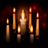 52243 VxRGB Candle LED Candle Cluster