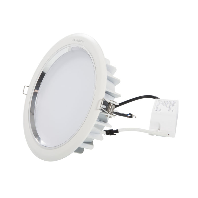 52446 52450 Verbatim LED Downlight 183mm with Driver
