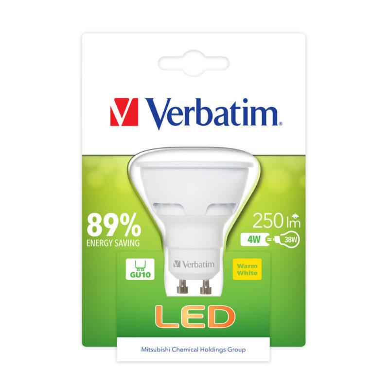 Verbatim LED PAR16 GU10 4W 52607 Packaged