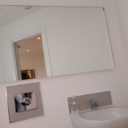 Herschel Select XL Mirror Cloakroom Installation