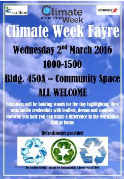 Climate Fayre Week poster