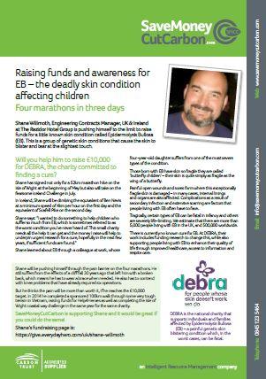 DEBRA fundraiser page