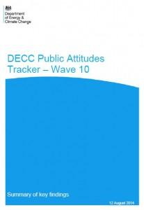 DECC Tracker Wave 10 cover