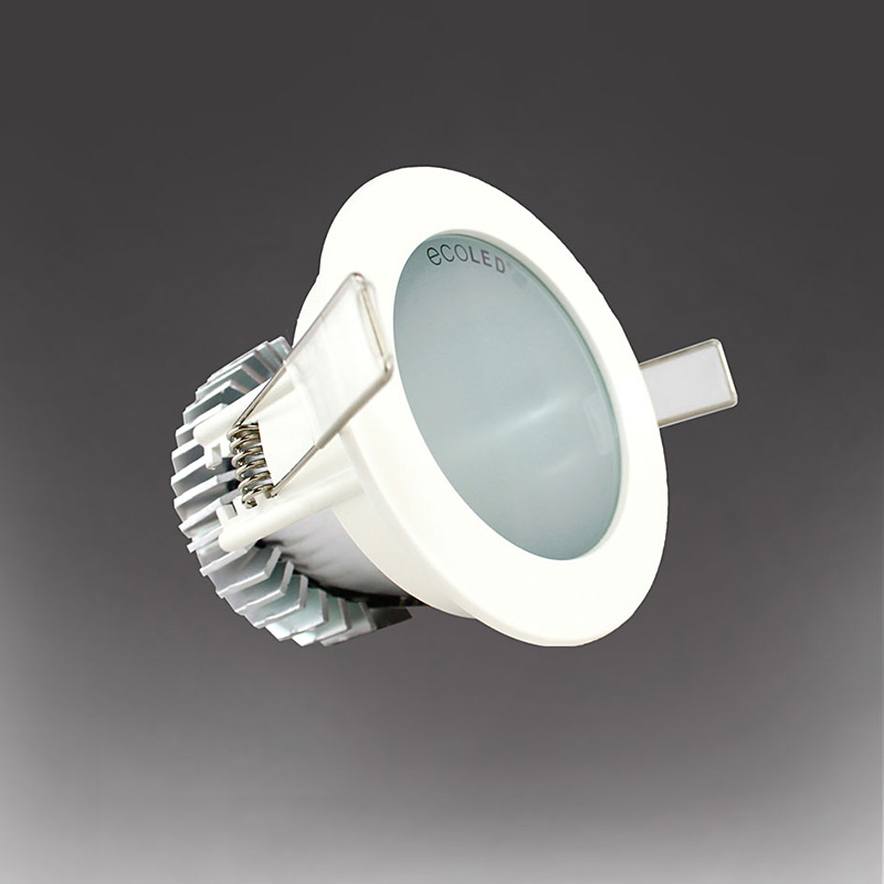 reputable site ee2eb 436b2 Ecoled ZEP 1 LED Fixed Downlight in White 10W 2700k 35 Degree Beam Angle 80  CRI