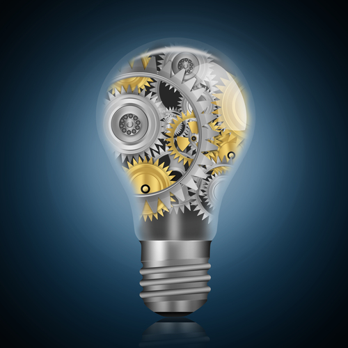 Image of lighbulb with industry cogs inside- energy prices - SaveMoneyCutCarbon