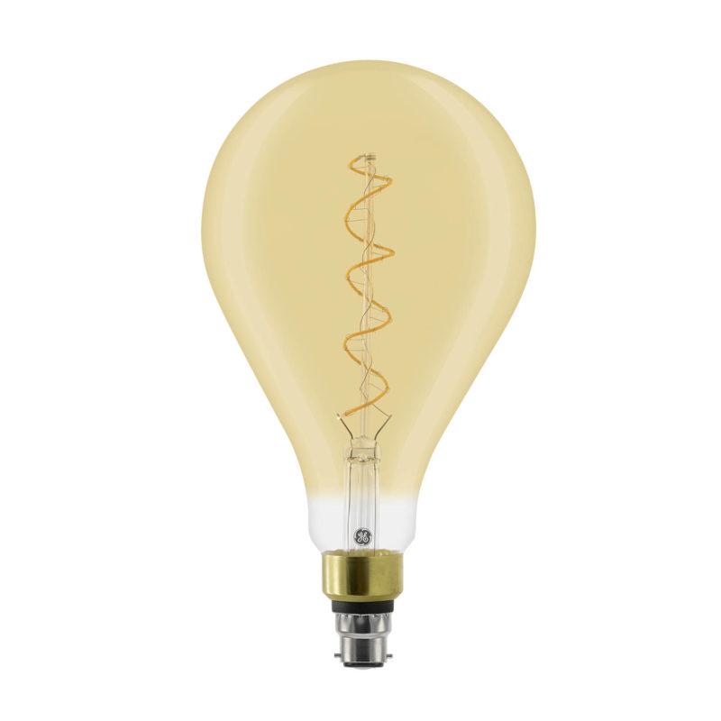 GE LED Filament Heliax GLS Bulb Gold A160 B22 - 93078640 - Main