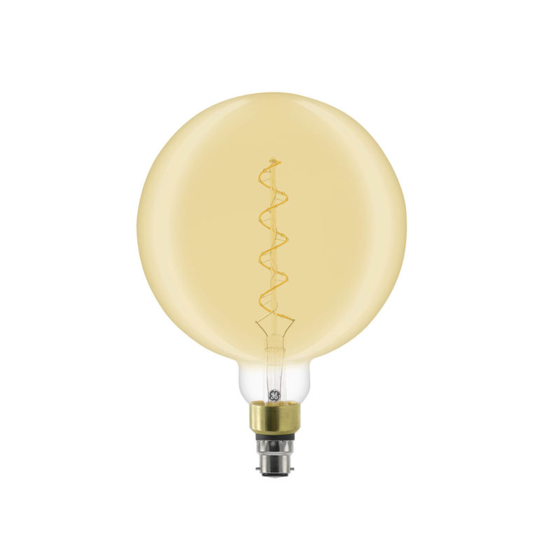 GE LED Filament Heliax Globe Bulb Gold G200 B22 - 93078639 - Main