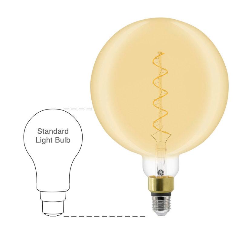 GE LED Filament Heliax Globe Bulb Gold G200 E27 - 93078638 - Scale-Main