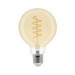 GE LED Filament Heliax Globe Bulb Gold G80 E27 - 93078643 - Main