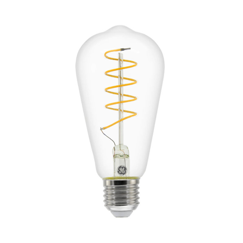GE LED Filament Heliax Pear Bulb Clear ST64 E27 - 93078647 - Main