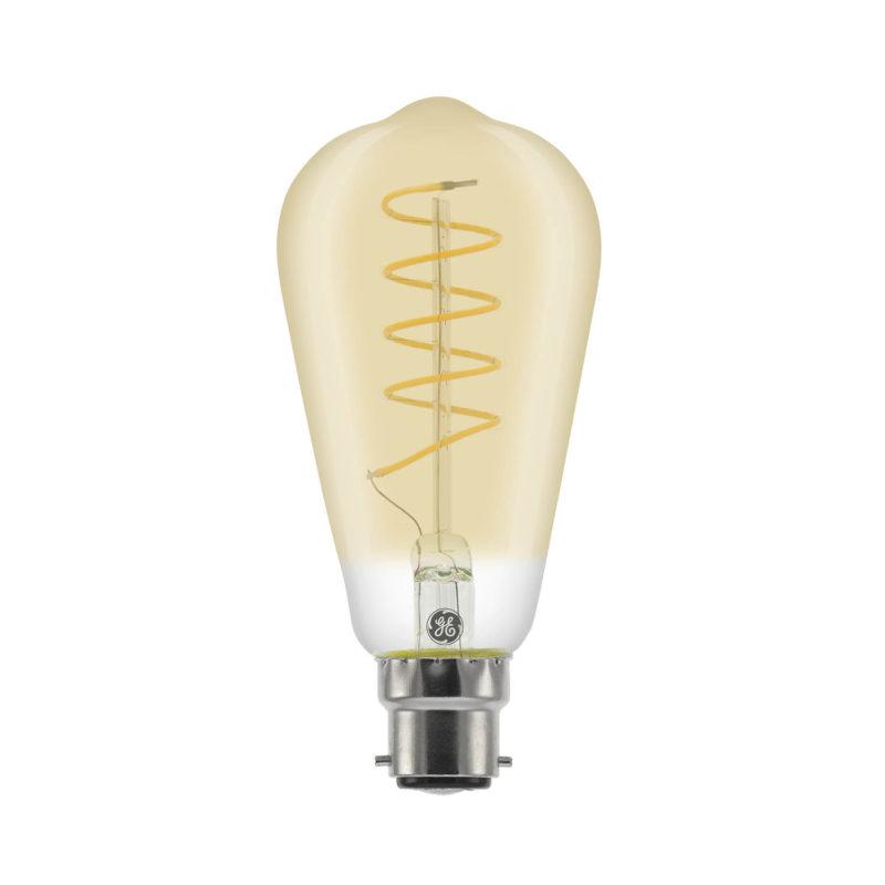 GE LED Filament Heliax Pear Bulb Gold ST64 B22 - 93078648 - Main