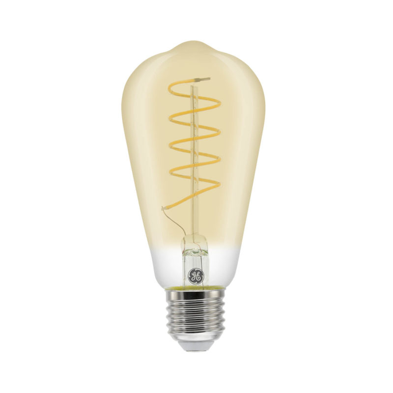 GE LED Filament Heliax Pear Bulb Gold ST64 E27 - 93078646 - Main